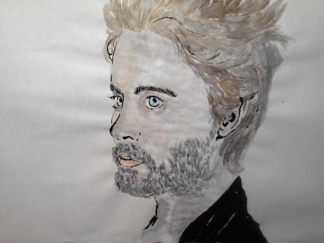 Jared Leto Watercolor Painting on A4 paper