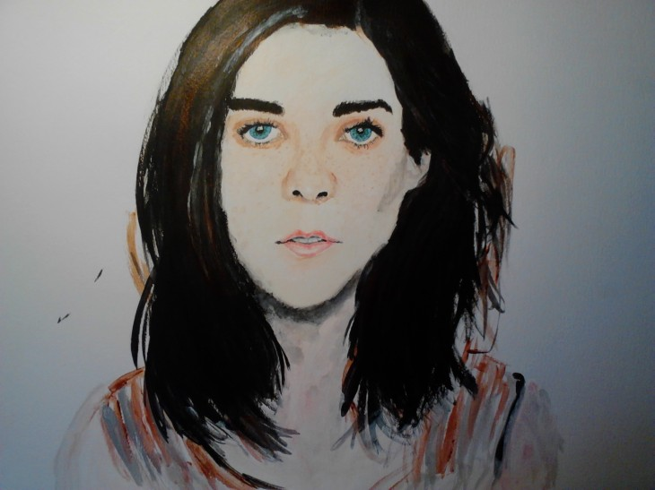 Portrait of a Girl Acrylic on A3 paper