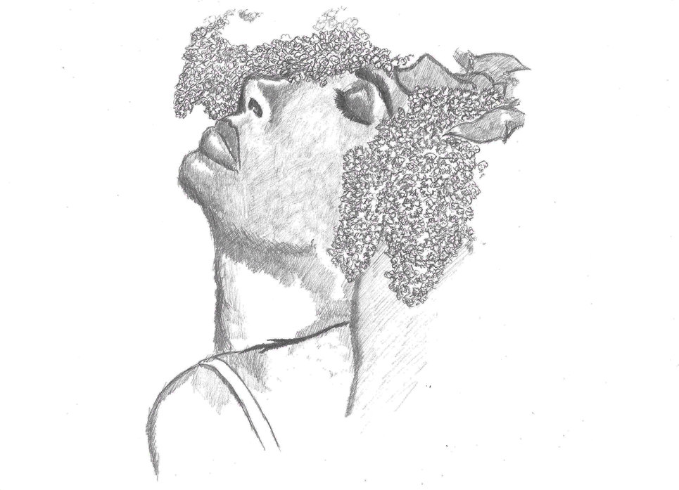 Sketch - Random Face 6 drawing on A4 paper