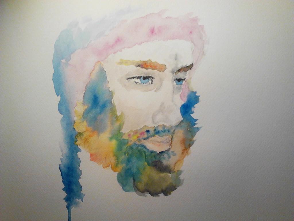 Watercolor Portrait 3 watercolor painting on watercolor paper