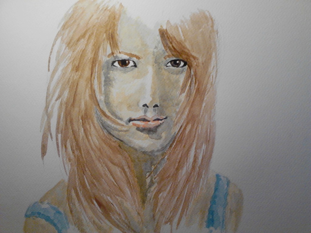 Watercolor Portrait 6 watercolor painting on watercolor paper