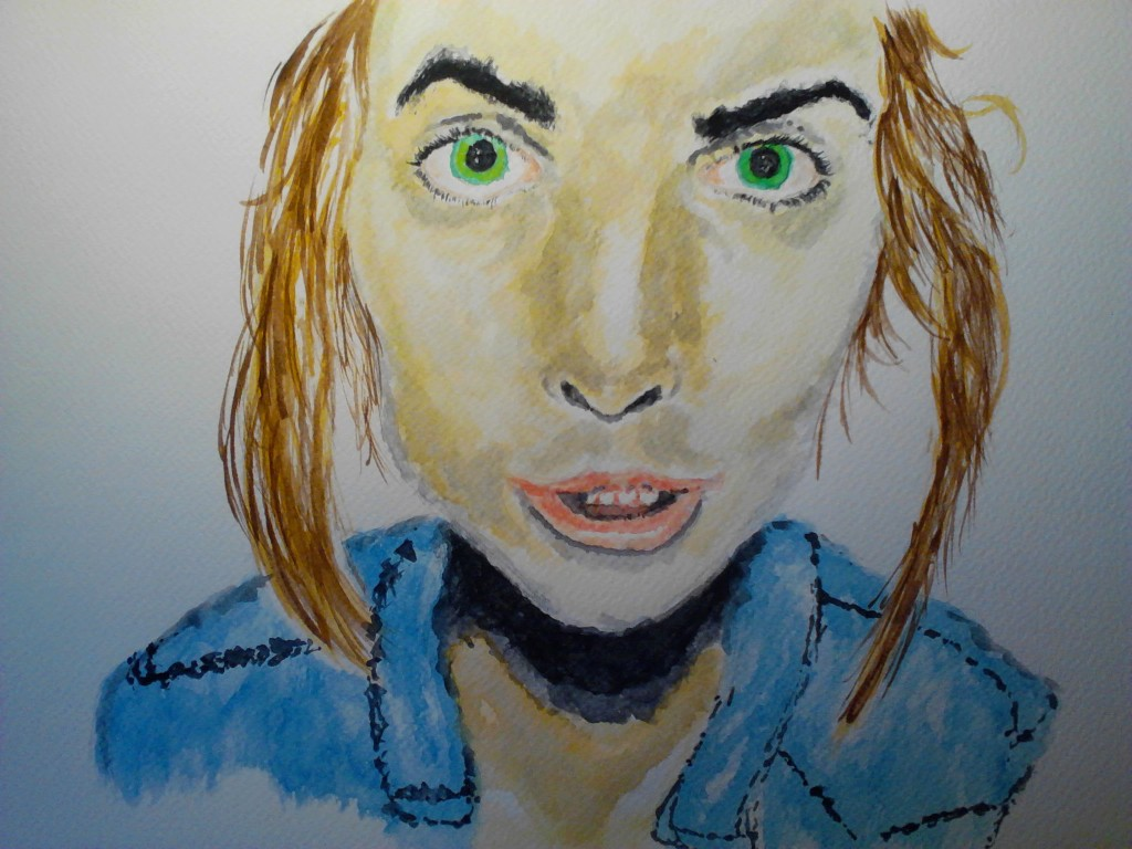 Watercolor Portrait 7, watercolor painting on watercolor paper