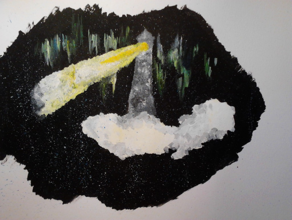 Landscape 4 acrylic painting on canvas