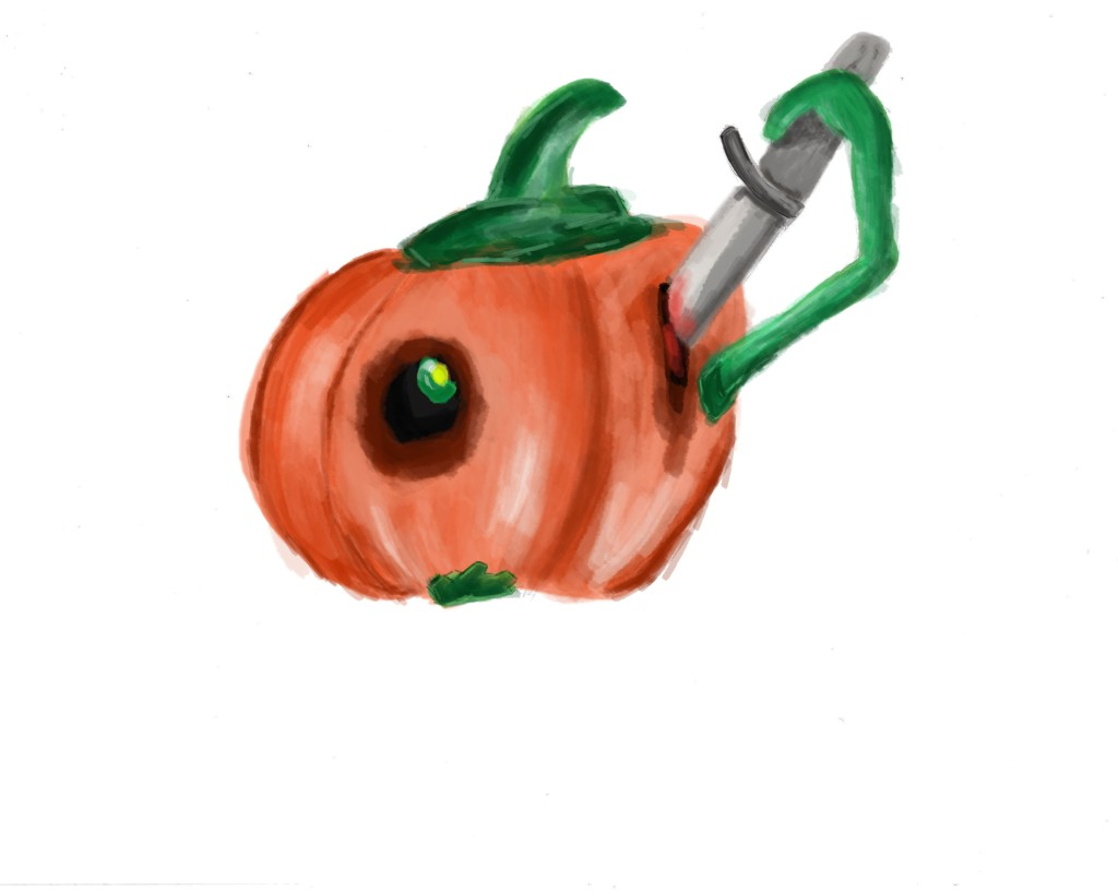 Pumpkin Carving illustration on CS4 photoshop