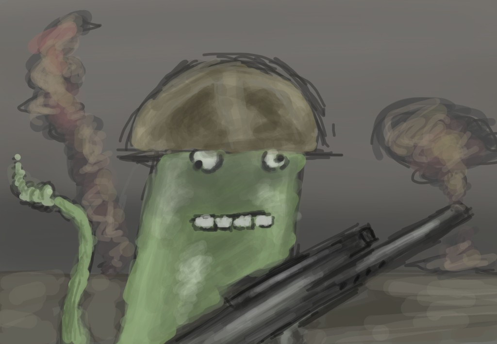 Snake Soldier illustration on photoshop