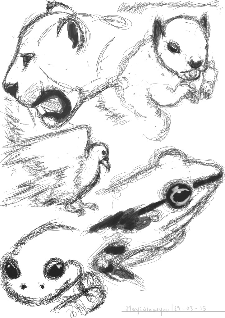 Animal study #3 illustration on photoshop