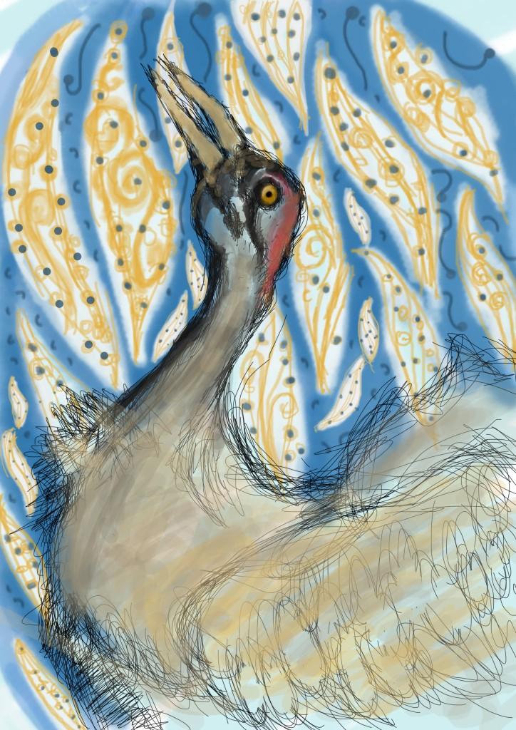 abstract bird illustration on photoshop