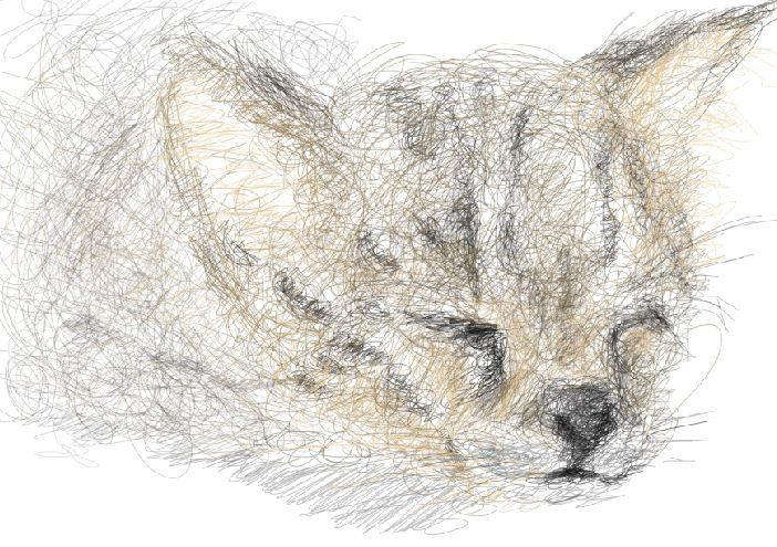 Linework - Kitten illustration on photoshop