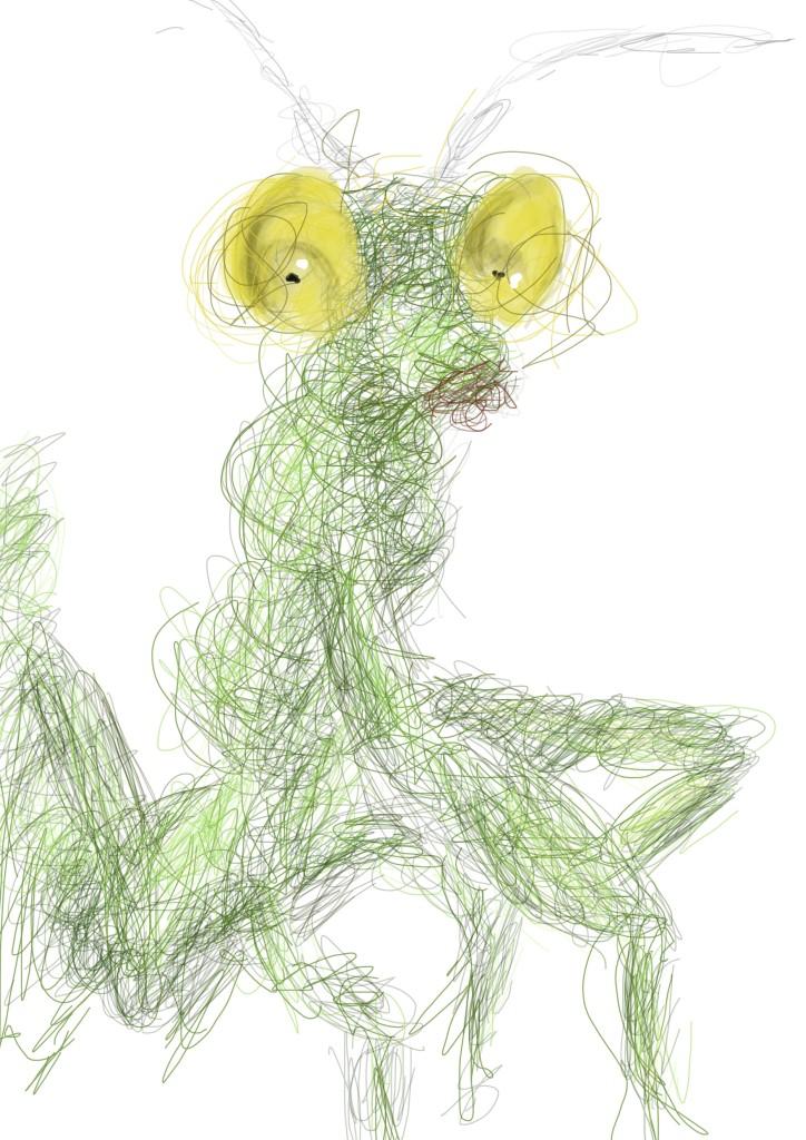 Linework - Praying Mantis