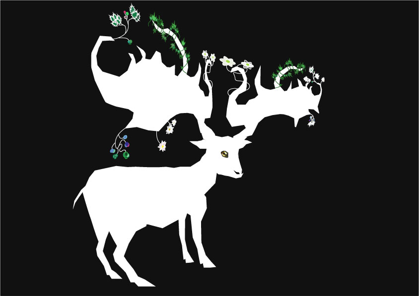 A white buck illustrator