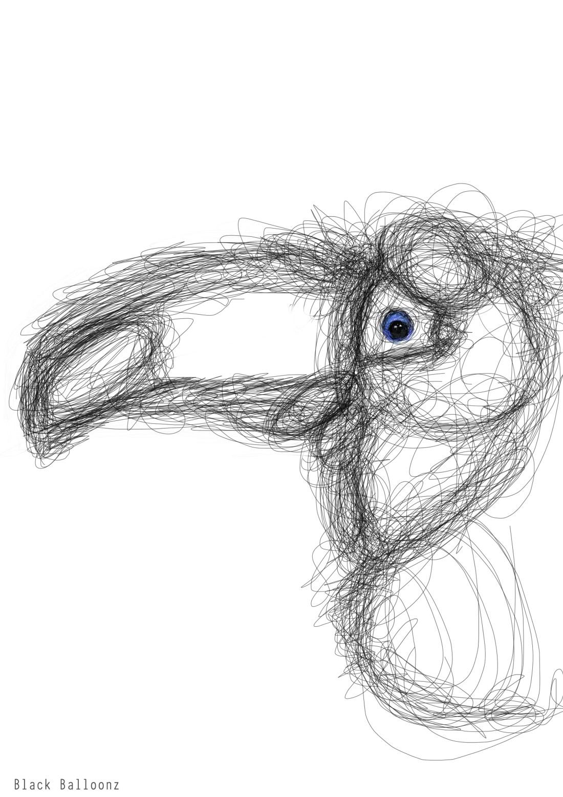 linework-toucan illustration on photoshop CS6