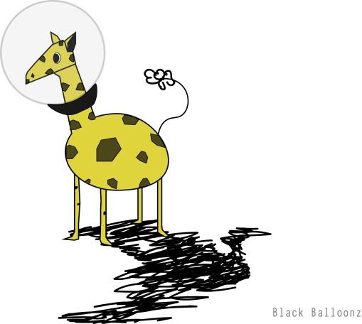 Space Giraffe illustration on illustrator