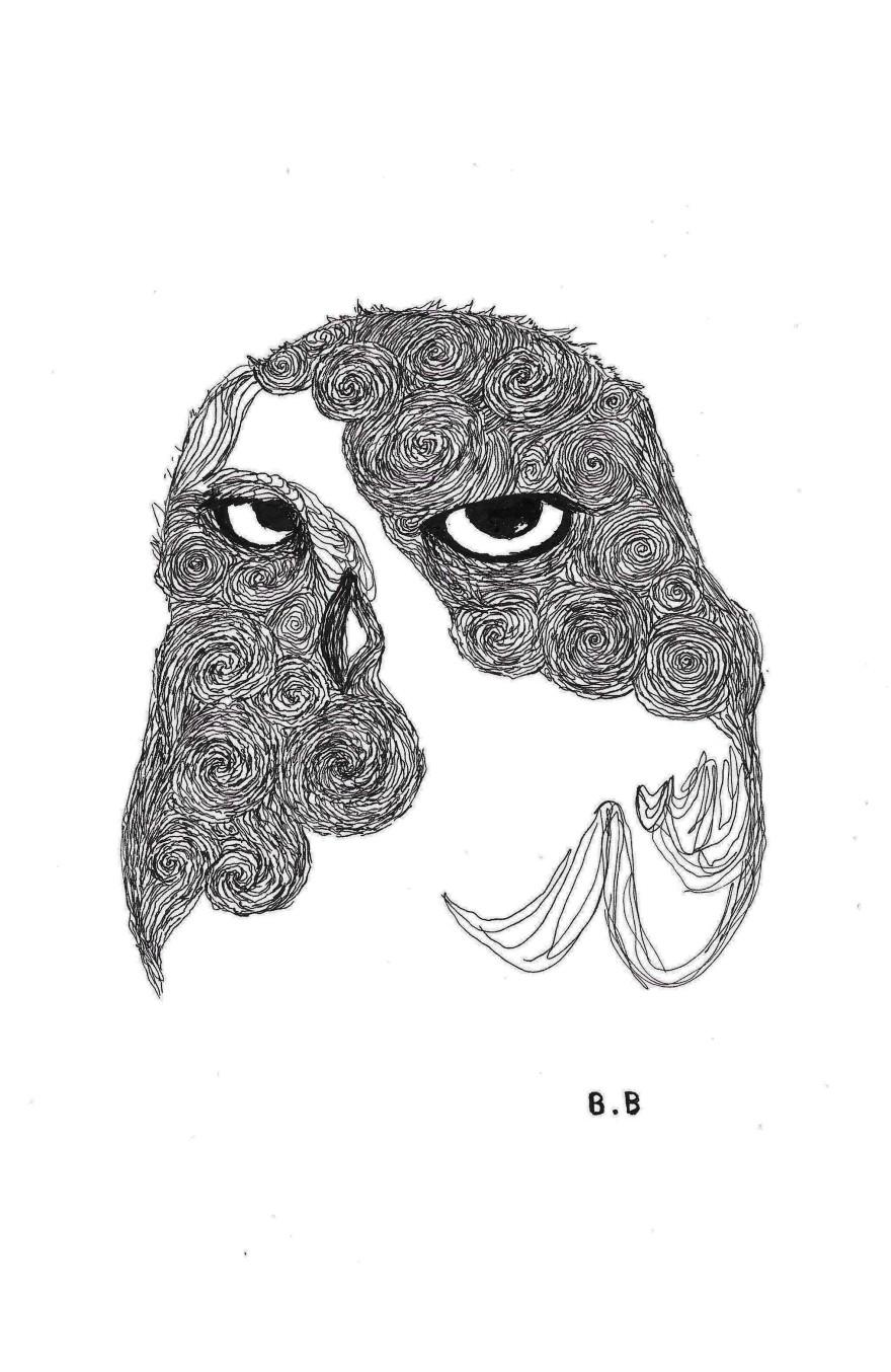 Unifnished - Ink- Owl#2 illustration on A4 paper