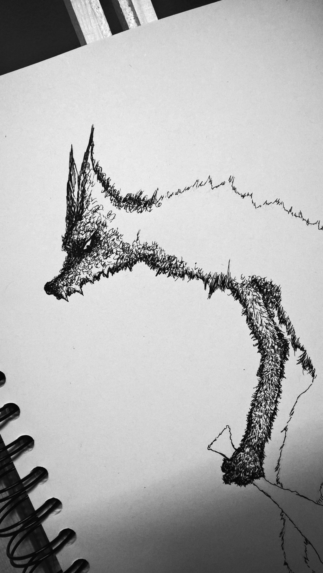 Big Bad Wolf illustration ink on A4 paper